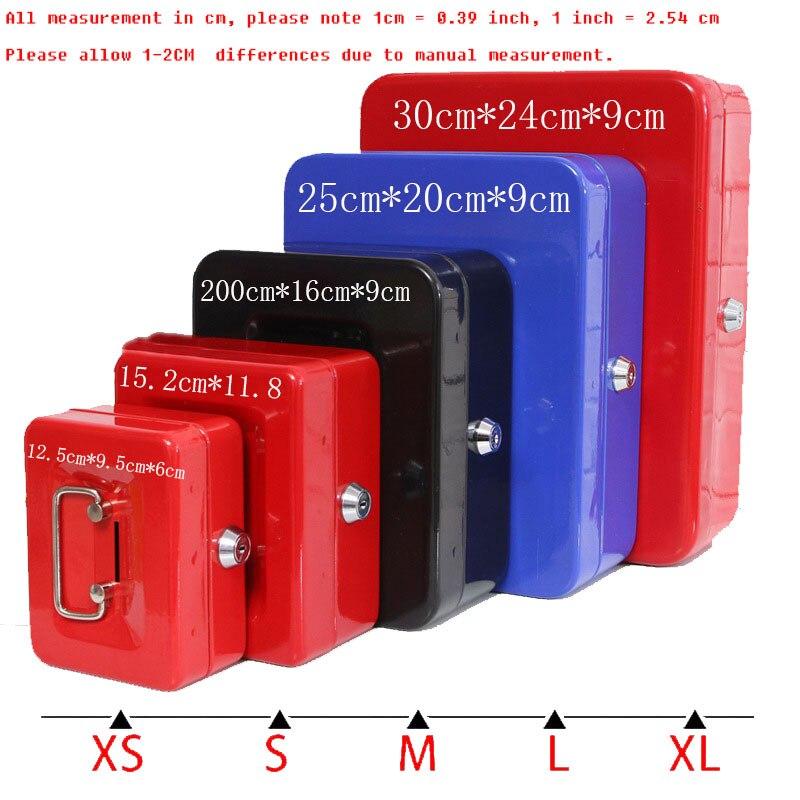 Портативный Сталь сейф наличные ювелирных изделий хранения Коллекция Box для домашнего офиса школы с ящиком лоток запираемый ящик безопасно... ...