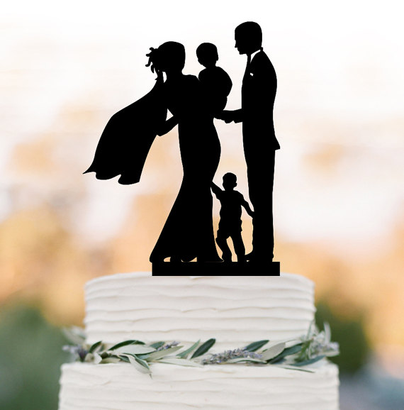 wedding cake toppers with baby boy family wedding cake topper with baby boy and small boy 26625