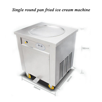220V 110V 1 pan fried ice cream machine with R410a pan fried ice cream roll machine fried ice cream rolls machine cover