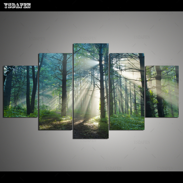 Op de muur HD in olieverf Phim modulaire foto Phong Cảnh poster loại room decor woondecoratie 5 stks canvas art z318