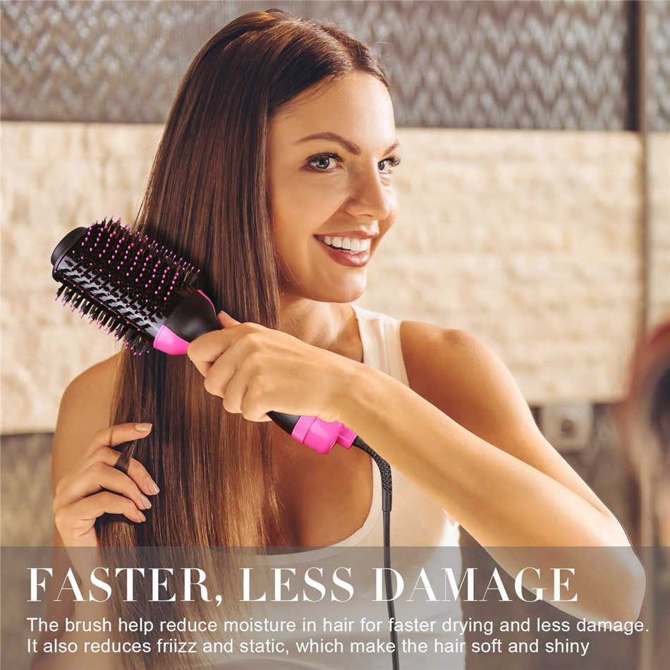 Image 3 - 2 In 1 Multifunctional Hair Dryer Volumizer Rotating Hot Hair Brush Curler Roller Rotate Styler Comb Styling Curling Flat Iron-in Curling Irons from Home Appliances