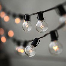 25Ft/50Ft/100Ft G40 Globe With 25 50 100 Clear Ball Vintage Bulbs Indoor/Outdoor Hanging Umbrella Patio String Lighting Fixtures(China)