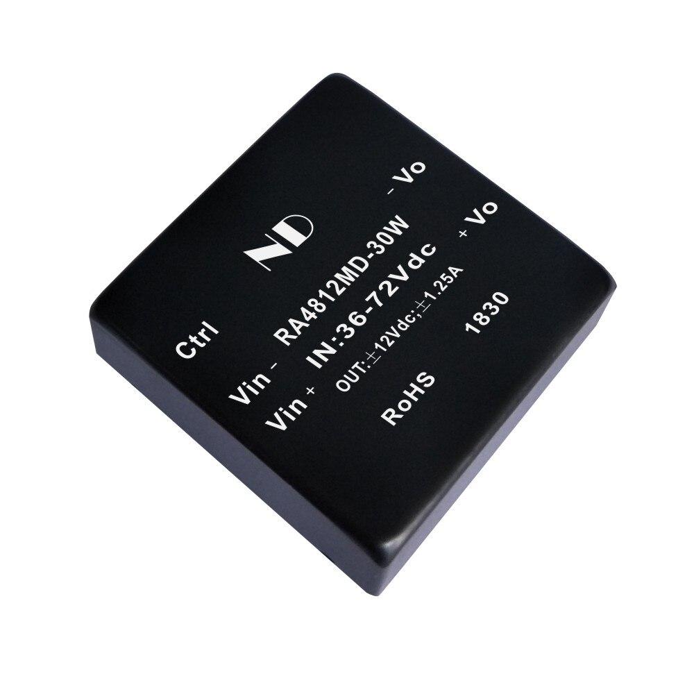 цена на 1pcs 2018 new dc dc converter 48V 60V to dual 5V 12V 15V30W regulated dcdc power module supply quality goods
