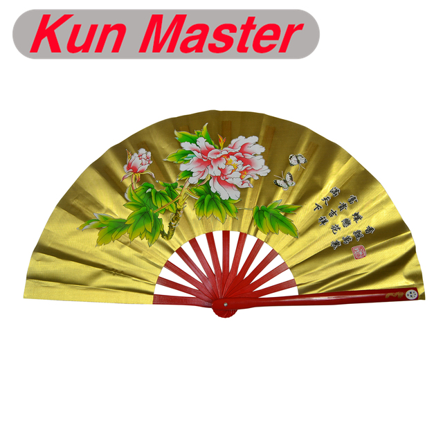 Bamboo Kung Fu Fighting Fan, Martial Arts Practice Performance Fan,Wu Shu  Fan, Gold,Peony-in Martial Arts from Sports & Entertainment on