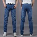 2016 Regular Fit Brand Jeans Hombre Jeans De Moda Delgado de Alta Calidad Rectas Dril de Algodón delgado Jeans Tamaño: 28-40 envío gratis
