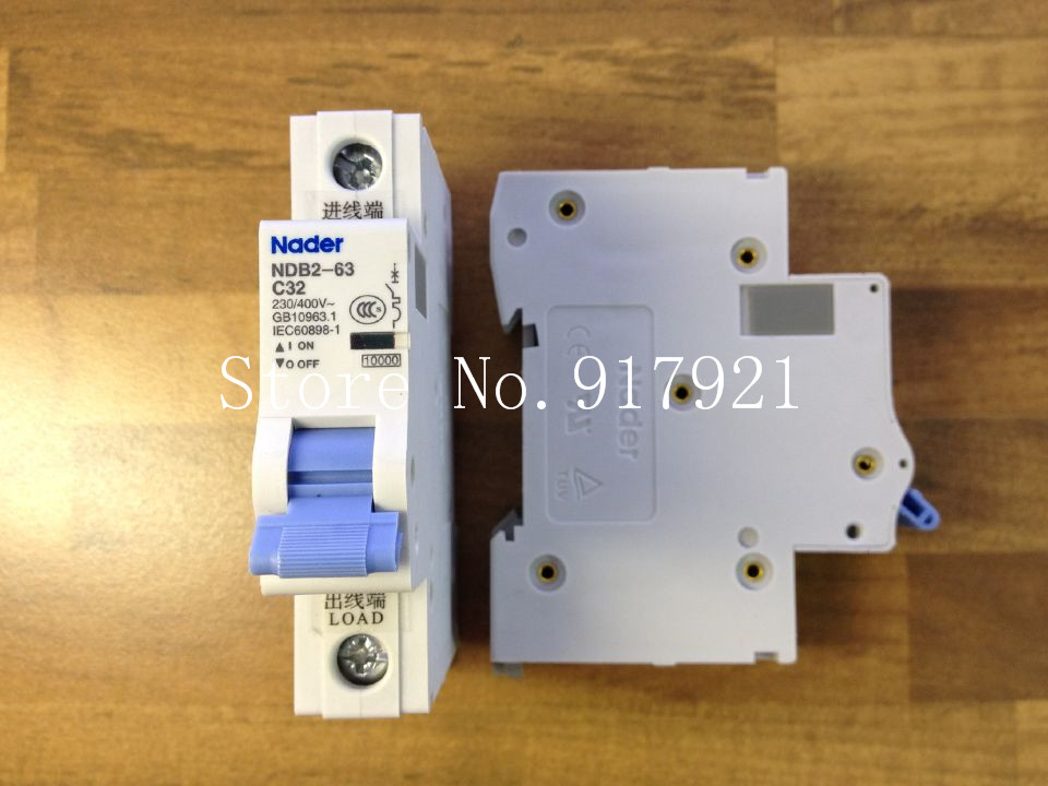 [ZOB] Nader letter NDB2-63 C32 miniature circuit breaker 1P32A unipolar air switch to ensure genuine --12pcs/lot