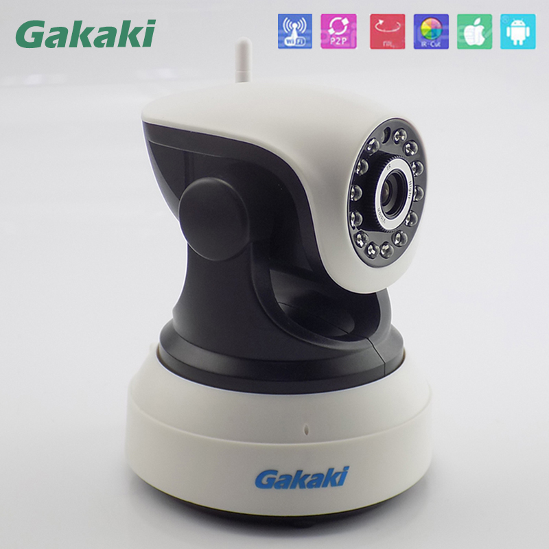 Gakaki Wifi Wireless IP Camera Baby Monitor Audio Record Surveillance with Onvif Network Night Vision CCTV Security new wireless remote control baby monitor with night vision intercom voice wifi network ip camera electronic for smart phone