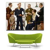 2Pcs Modern HD Print Painting Navy By Joseph Christian For Home Decor Paintings On Canvas Free