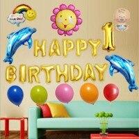 Globos de papel de cumpleaños decoración del partido del niño de baby shower boy/girl holiday bola inflable fiesta de cumpleaños 1 Unidades de papel globo