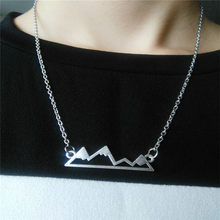 my shape Mountain Tiny Colorado Snow Peak Mountain PridTop Skyline Charm Dainty Silver Plated Pendant Gorgeous Jewelry For Girls(China)