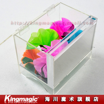 Crystal Box Appearing Flower Transparent box acrylic material stage magic props magic flower