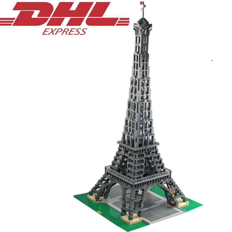 3478Pcs 30009 LELE City Figures The Eiffel Tower Model Building Kits Blocks Bricks Toys For Children Gift Compatible With 10181
