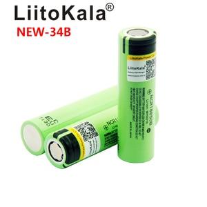 Image 5 - 2019 2PCS LiitoKala new original NCR18650B 34B 3.7V 18650 3400mAh rechargeable lithium battery  flashlight bat