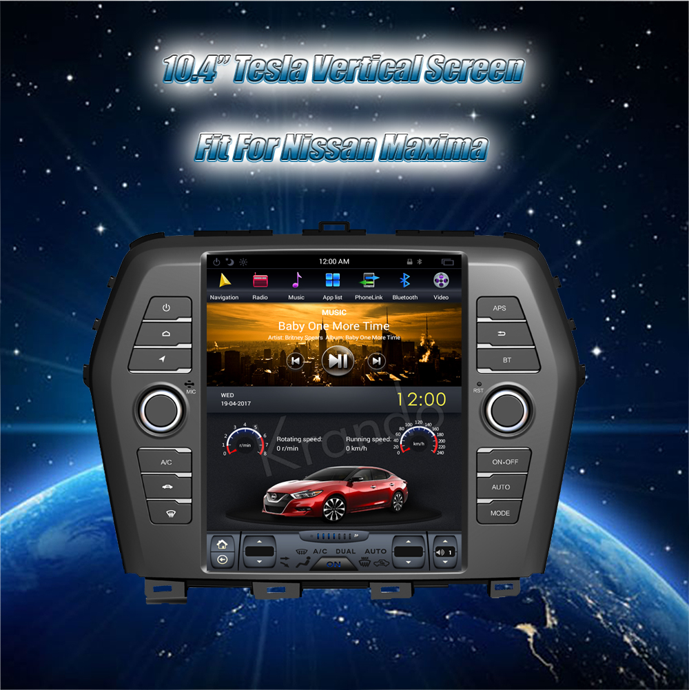 Krando Vertical Screen Android Car Radio Multimedia For Nissan Maxima Navigation With Gps System