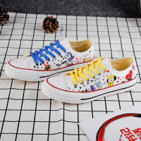 Kpop Bangtan Boys Canvas Low Tops Shoes Cartoon CHIMMY COOKY TATA Printed Fashion Women Girl Casual Shoes