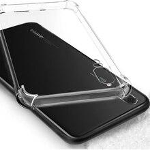 Şeffaf Yumuşak TPU silikon kılıf Için Huawei P20 Pro P10 lite Mate 9 10 Pro lite Nova 2 2i Onur 6A 6X7X9 6C 8 Pro çanta