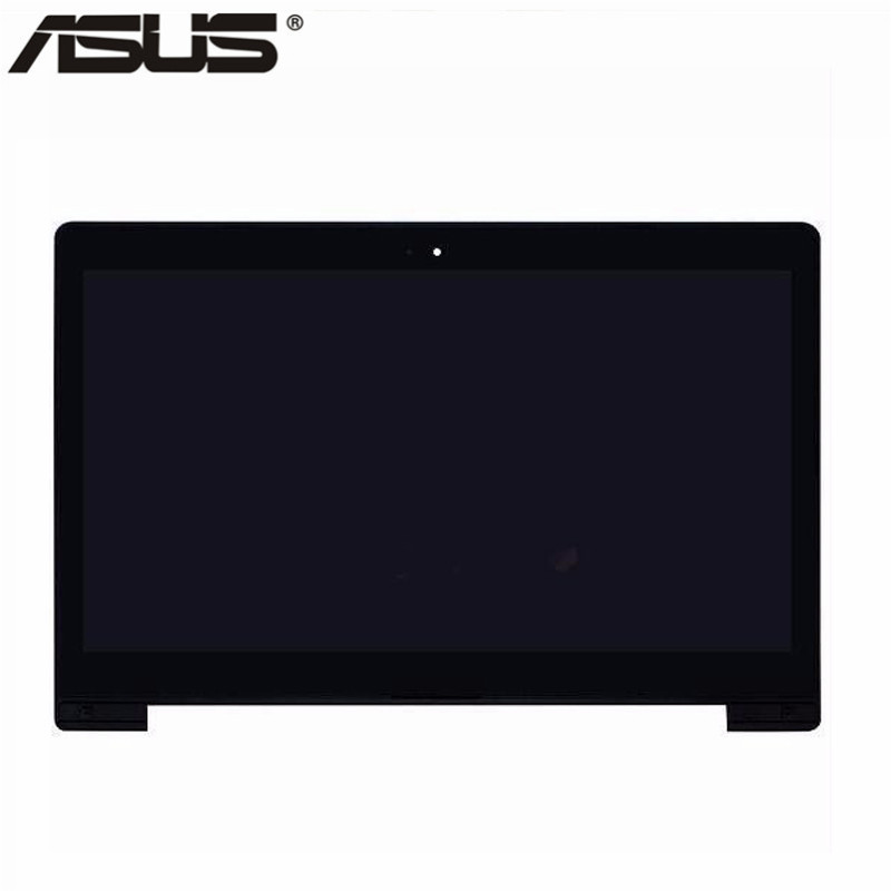 Asus LCD Display Touch Screen Assembly with frame Replacement Part For Asus VivoBook S400 S400C S400CA LCD screen For Asus S400 asus lcd display touch screen assembly with frame for asus vivotab smart me400c 10 1 replacement parts