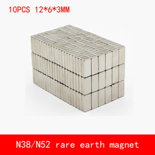10PCS/lot 12*6*3mm N38 N52 neodymium magnet magnets 16X6X3mm