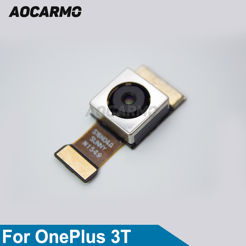 Aocarmo cámara trasera de reemplazo lente principal reparar Cable Flex módulo de la cámara para OnePlus 3 t 1 + 3 t A3010 16MP