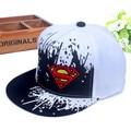 Nova alta qualidade do bebê das meninas dos meninos snapback chapéus crianças batman superman Boné de beisebol Dos Desenhos Animados para Crianças Hip Hop Hat Para 3-7 Anos de Idade
