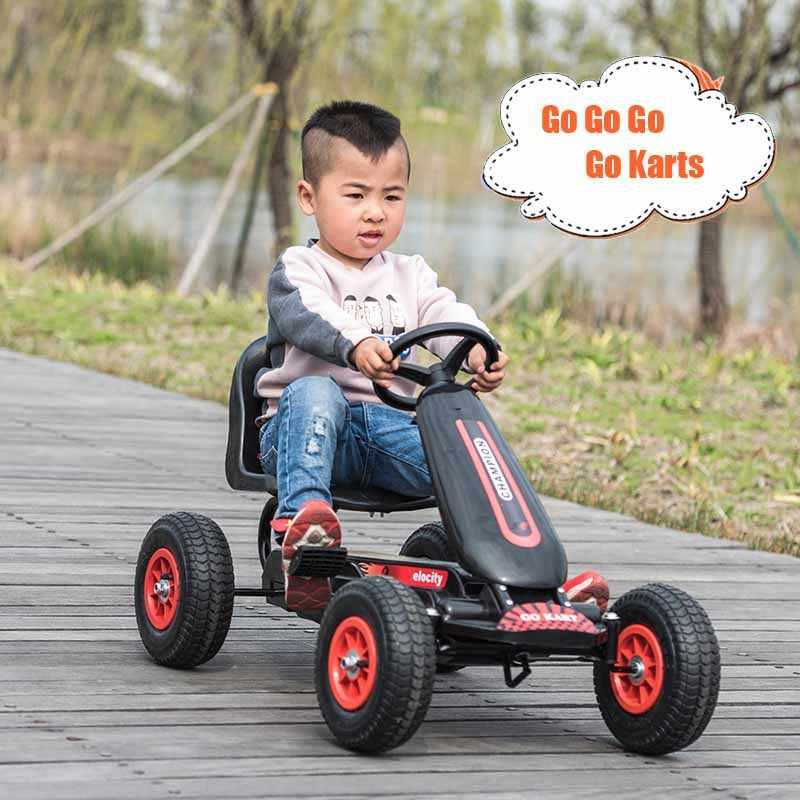 Anak-anak Pedal Go Kart dengan Inflatable Roda Karet