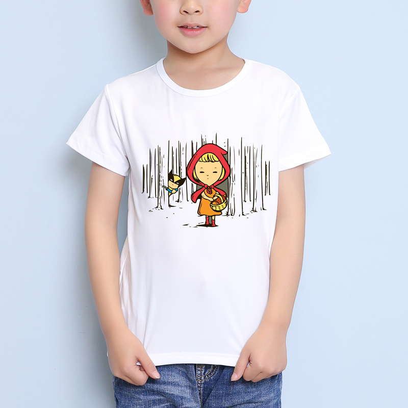 TEEHEART Boys/girlss Modal T-shirt Cartoon Fairy Tale Printed 18M-10T Summer Children Casual Clothing TA359