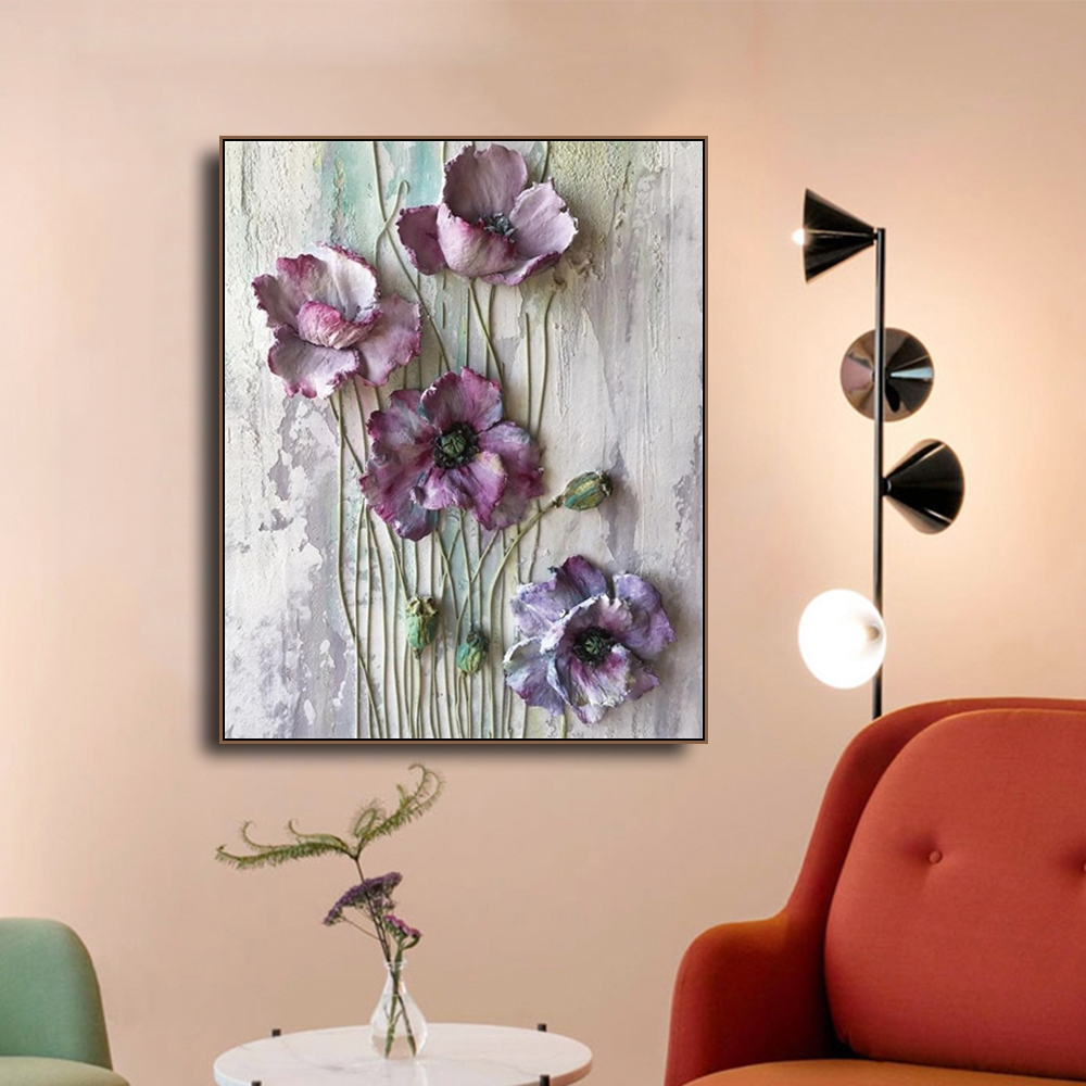 Artificial Flower Picture Art Canvas Painting Calligraphy Decoration Printings Wall Pictures For House Living Room Bedroom Home