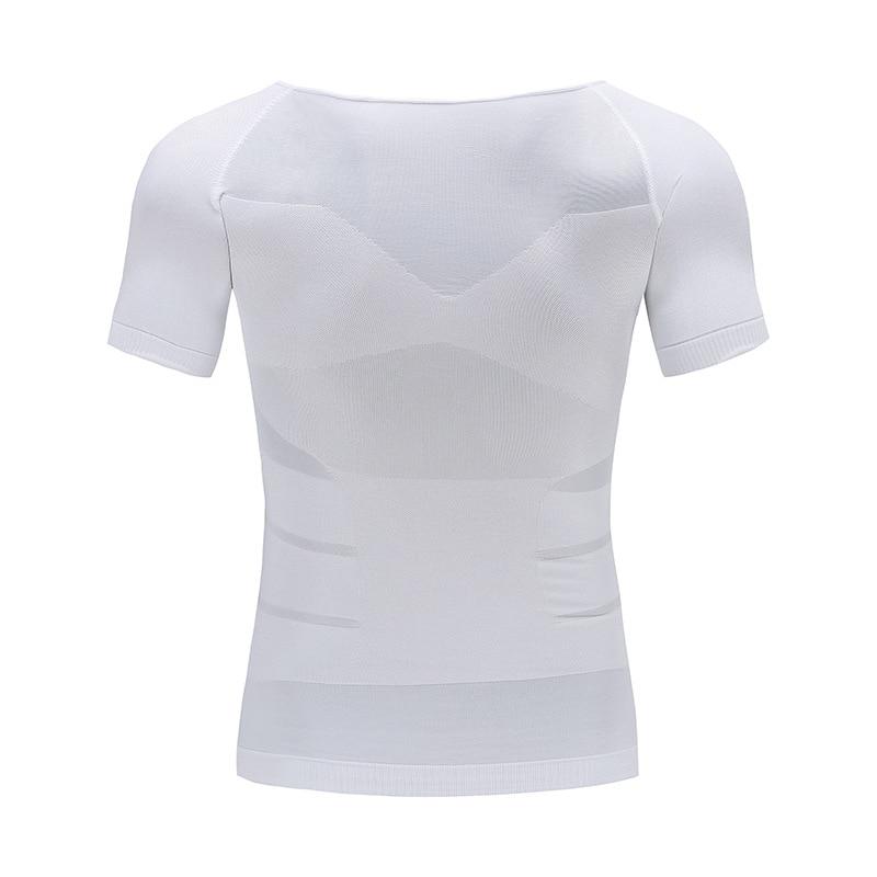 Image 4 - Mens Slimming Body Shaper Tummy Shaper T shirt Slim Lift Corset Waist Muscle Girdle Shirt Fat Burn Posture Correct Underwears-in T-Shirts from Men's Clothing