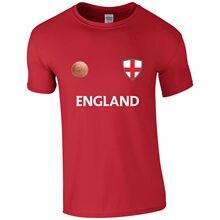 Hot Sell 2018 Fashion England Footballer Retro Casual Men's Cotton Tshirt T Shirts Short Sleeve
