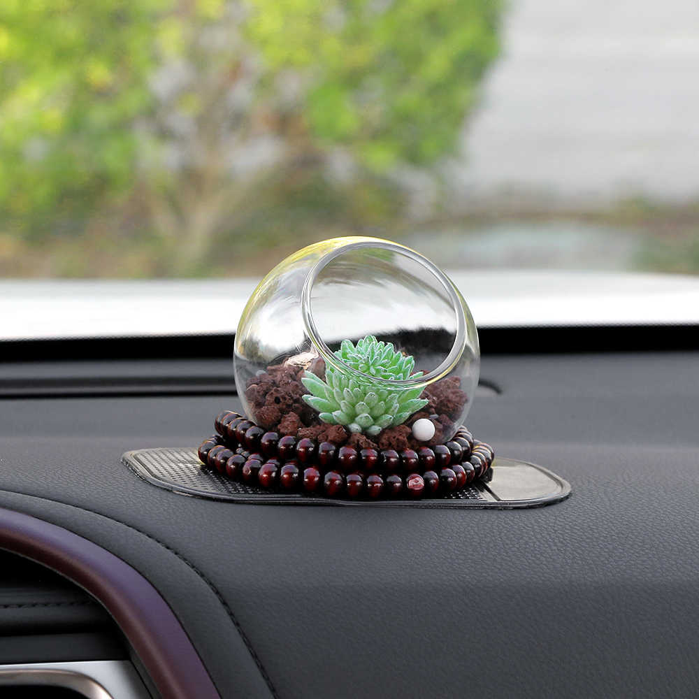Car-Styling Artificial Plants Car Dashboard Decoration Ornament Creative  Cute Zeolite Stone Automobile Interior Air Freshener