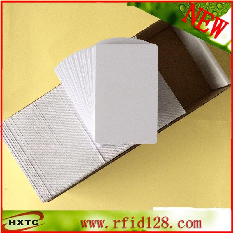 200PCS/Lot 125KHZ RFID Smart EM Proximity PVC Inkjet Card with EM4100 For E pson/C anon Inkjet Printer Double Side Printable