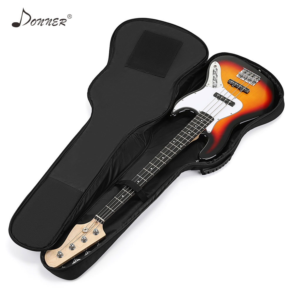Donner 43/39 Inch Premium Electric Bass Guitar Gig Bag Backpack Case Cover Water-Resistant Nonwovens Interior Thicken Sponge Pad