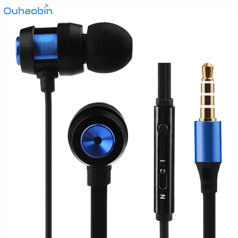 Ouhaobin Super Bass Stereo In-Ear Earphone Sport Earphone With Microphone For Iphone7 Co ...
