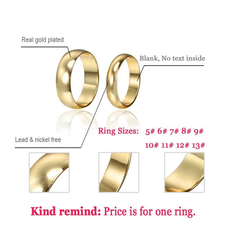 Par Ringe Guld Engagement Ring for Mænd Kvinder Alliance Casamento - Mode smykker - Foto 6