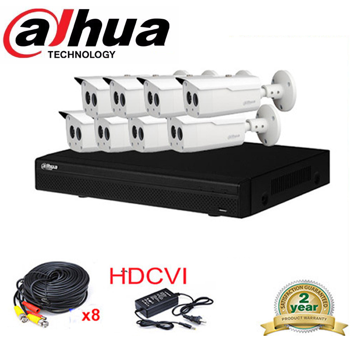 Dahua HCVR7108H-S2 8Ch 2MP HD 1080P HDMI CVI system DVR Kit with 8x 960P DH-HAC-HFW1100B IR Security HDCVI Camera System доска для объявлений dz 1 2 j8b [6 ] jndx 8 s b
