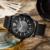 Curren nueva moda casual reloj de cuarzo de los hombres grandes de dial releather cronógrafo impermeable reloj de pulsera relojes envío gratis 8123