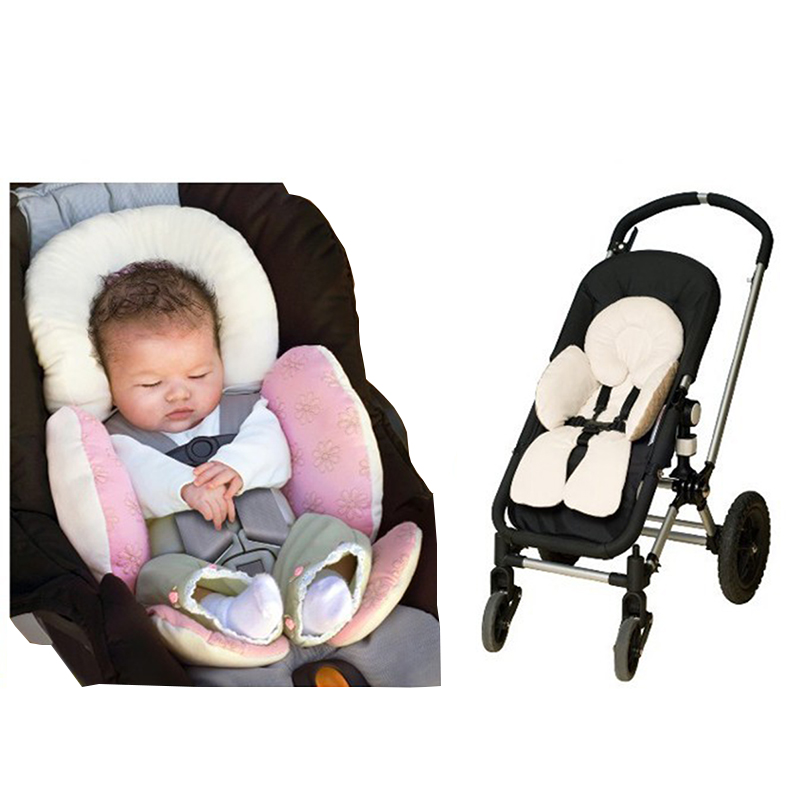 Baby Car Seat Accessories Stroller Cushion Carriage Thermal Pad Liner Children Shoulder Belt Strap Cover Neck