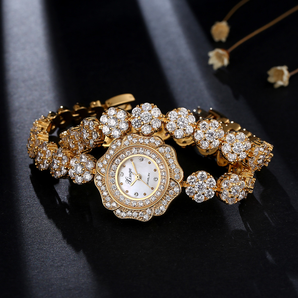 Bracelet Women's Dress Watches Top Brand Luxury Gold Fashion Ladies Watch Female Quartz-Watch S0371