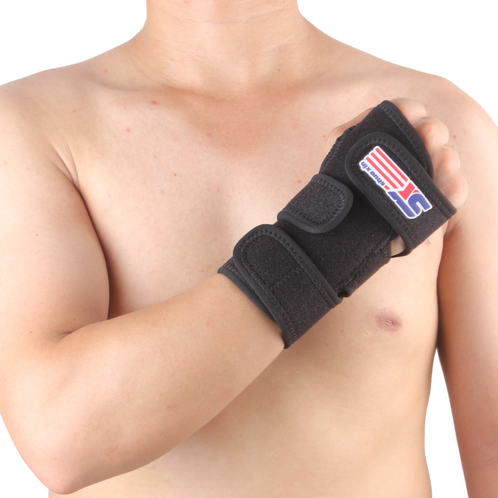 1pcs Medical Carpal Tunnel Wrist Brace Support Sprain Forearm Splint Band Stra -Black -Left or Right