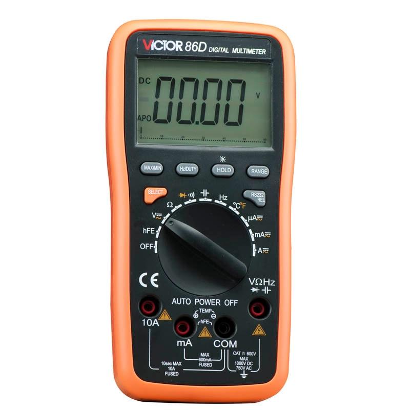 VICTOR VC86D Multimeter VC30274, Digital Multimeter Meter meter with RS232 and USB jack victor 6056d digital clamp meter