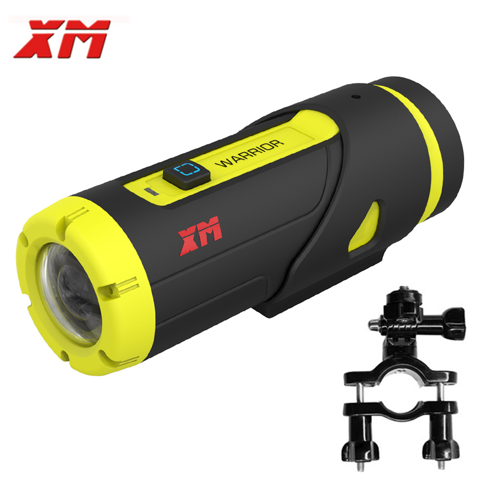 XM H.265 1080P Full HD Sports Action Camera 16GB Card 3400 Battery Wifi Video DV Mini Waterproof Cam Recorder With Clipholder