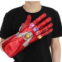 Avengers Endgame Superhero Iron Man Infinity Gauntlet Cosplay Gloves Thanos LED Glove Child Adult Snap Mittens Robert Downey Jr