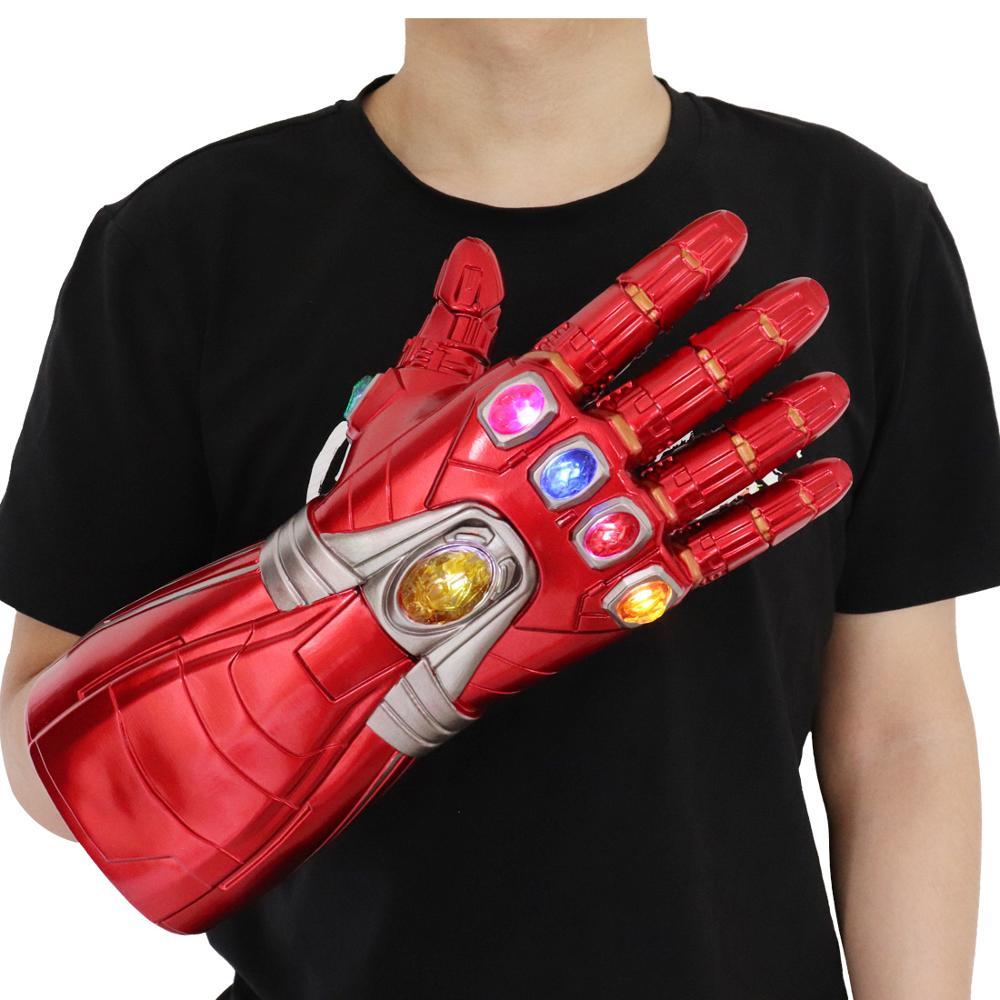 Avengers Endgame super-héros Iron Man Infinity gantelet Cosplay gants Thanos LED gant enfant adulte mitaines à pression Robert Downey Jr