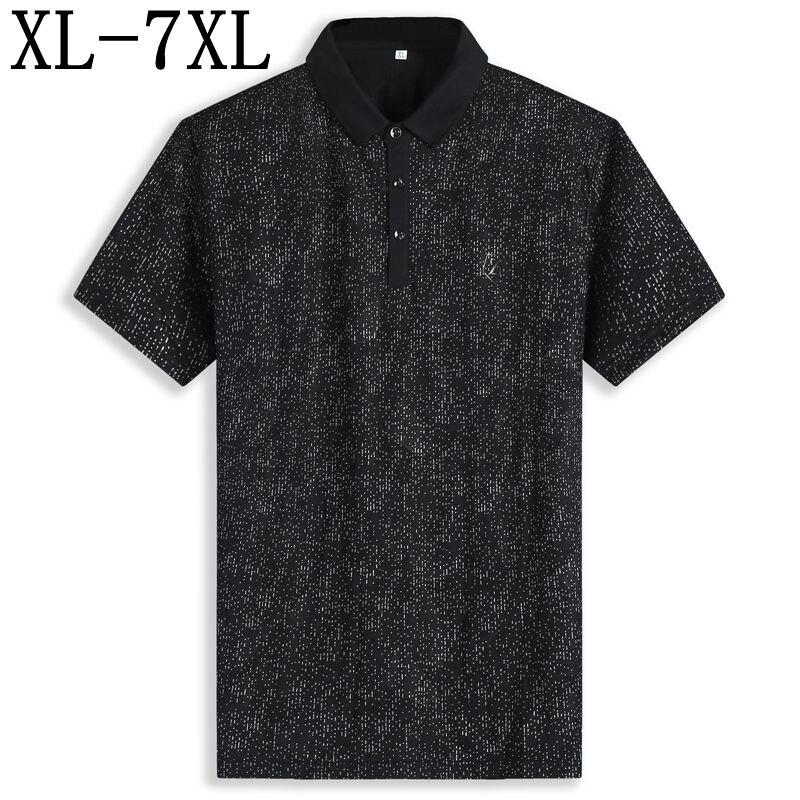 Größe 6xl 7xl 2019 Neue Sommer Klassische Herren Polos Kurzarm Business Atmungs Polo Shirt Männer Top Qualität Marke Polo Homme Dauerhafte Modellierung