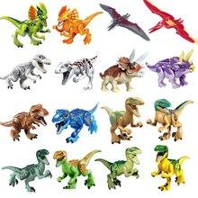 Única Venda diy Bloco de Construção de Dinossauros Do Jurássico Meu Mundo Figura Bricks Compatível Com Legoingly Animal Brinquedos Para O Presente Das Crianças