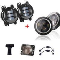 זוג 7 Inch עגול LED פנס לבן/אמבר Halo + 4 אינץ 30 w LED ערפל אורות + LED אורות אורות בלם שלישי + יצרנית צד Je ~ p