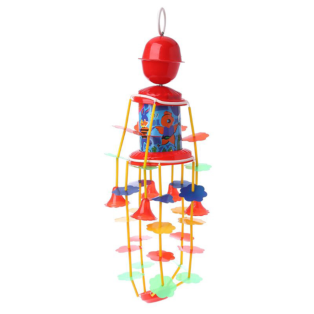 MrY Baby Clockwork Wind-up Bed Stroller Music Rotary Wind Chimes Rattles Bell Toys  Newborn Baby 0- 12 Months