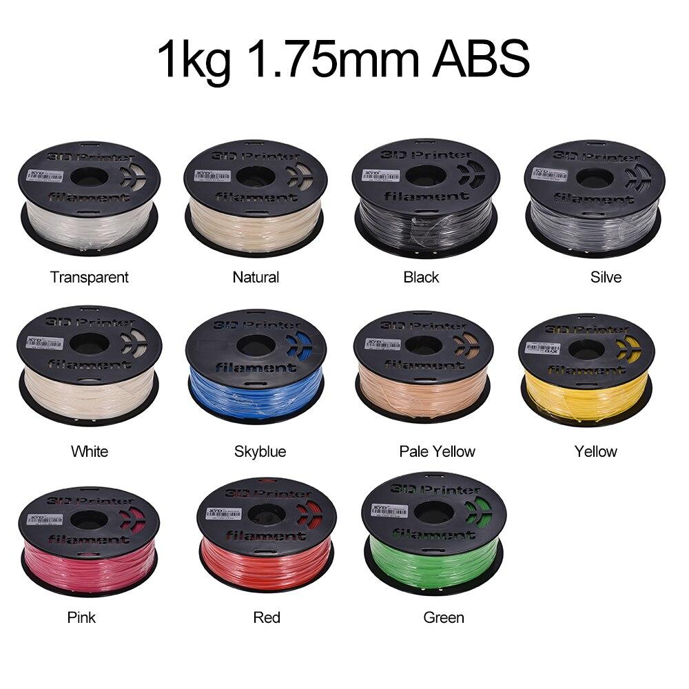 1KG/ Spool Colorful ABS Filament 1.75mm Diameter Printing