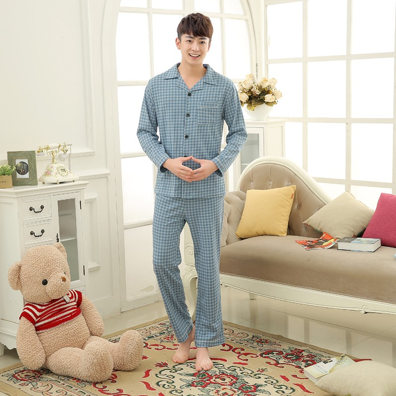Men\'s Cotton Polyester Pajama Sets RBS-C LYQ1414 12