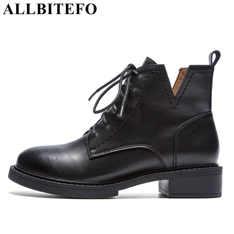allbitefo brand genuine leather super high heel ankle women boots fashion sexy ladies girls martin boots motocycle boots shoes ALLBITEFO brand real genuine leather ankle women boots low heel shoes Autumn fashion girls martin boots motocycle boots botas